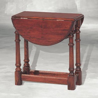 Beistelltisch kleiner Tisch Größenverstellbar aus Holz