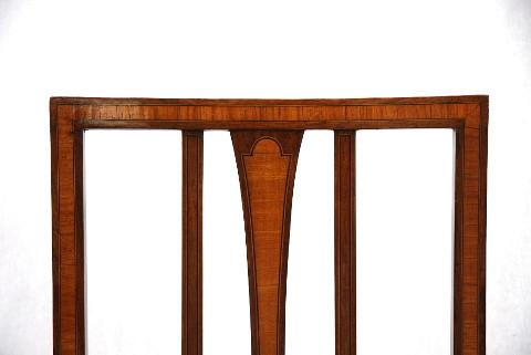 Edwardian Stuhl mit Intarsienarbeit
