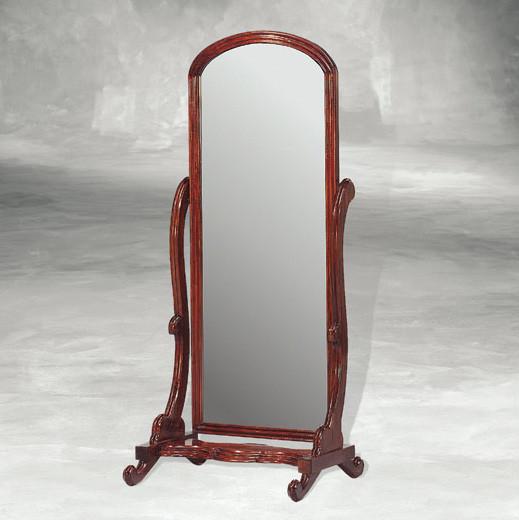 Antiker Ankleidespiegel Spiegel Standspiegel Ganzkörperspiegel aus Holz