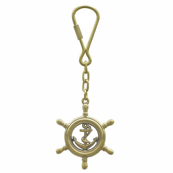 Schlüsselanhänger - Steuerrad mit Anker