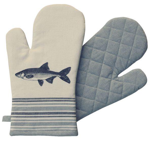 Ofen-/Grillhandschuh - Fisch, Baumwolle, gesteppt, 17x30cm