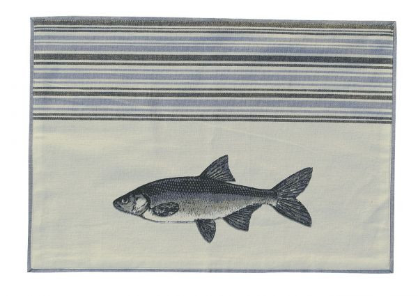 Platzset - Fisch, Baumwolle, 48x33cm