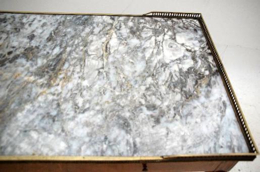 Antiker Marmor Couchtisch