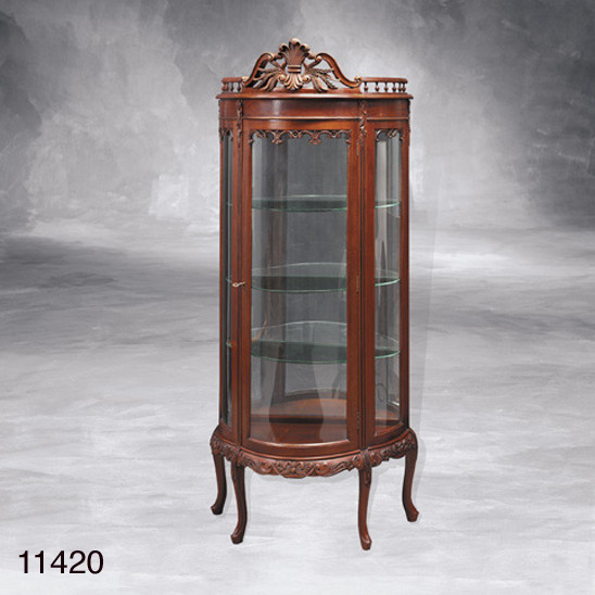 Display Cabinet, Curio, Tiffin LED