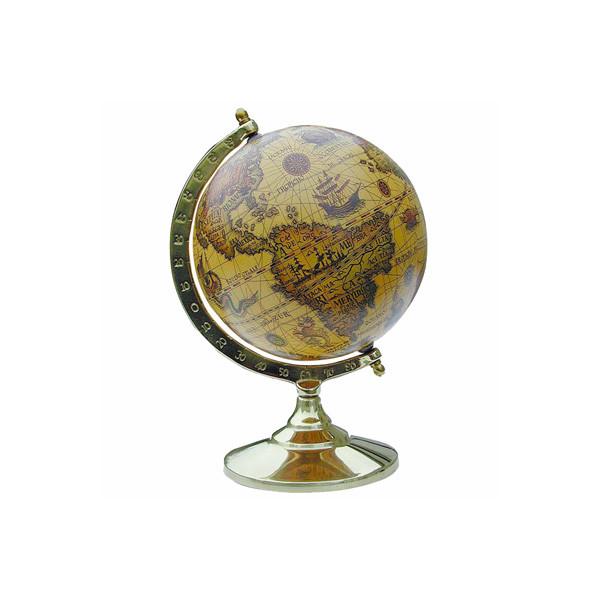 Globus, Messingfuß 14cm