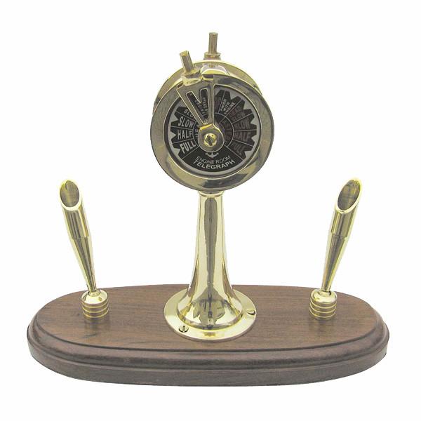 Maschinentelegraf mit 2 Penhaltern 17cm