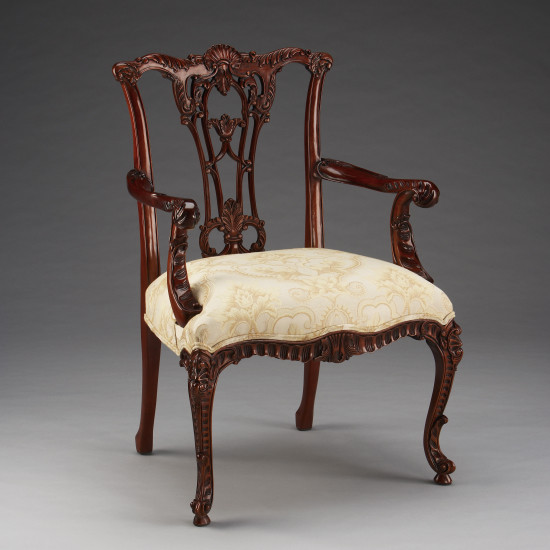 Sidechair, French Chippendale