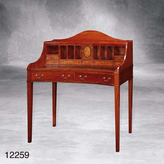 Schreibtisch Williams mit Leder Top