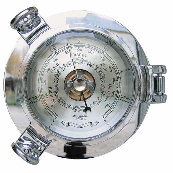 Barometer im Bullauge, verchromt Ø: 14cm