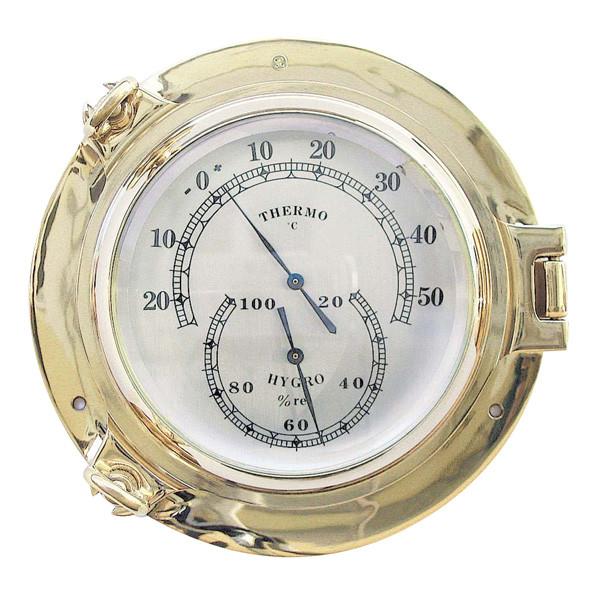 Thermo- & Hygrometer im Bullauge Ø: 18cm