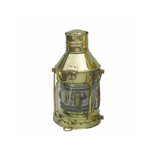 Ankerlampe, Messing, Petroleumbrenner, H: 32cm, Ø: 15cm