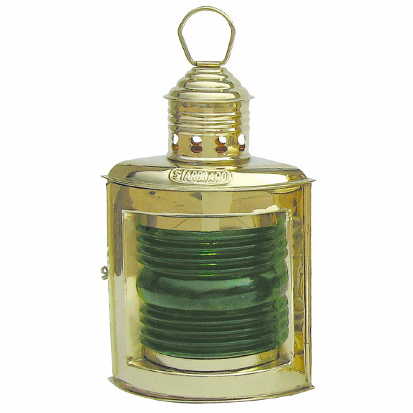 Steuerbordlampe, Petroleumbrenner, H: 23cm