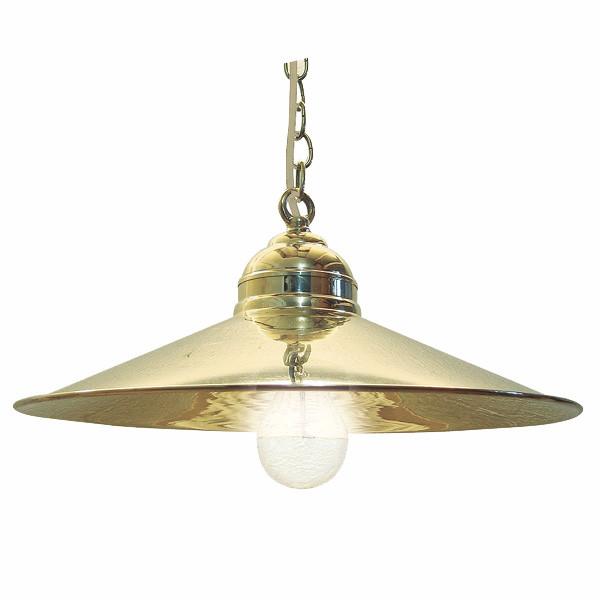 Hänge-Leuchte, Messing lackiert, elektisch H: 16cm, Ø: 35,5cm