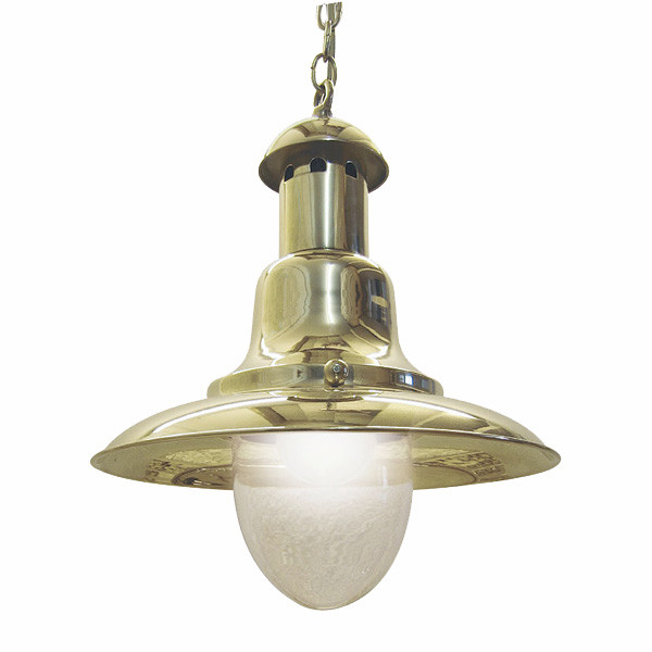 Fishermen´s Hänge-Lampe, Messing lackiert H: 35cm, Ø: 27cm