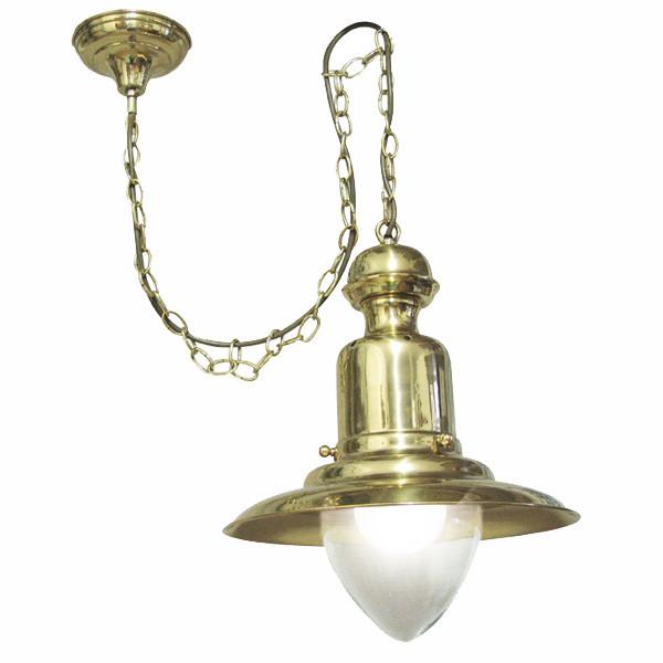 Fishermen´s Hänge-Lampe, Messing lackiert H: 43cm, Ø: 33cm