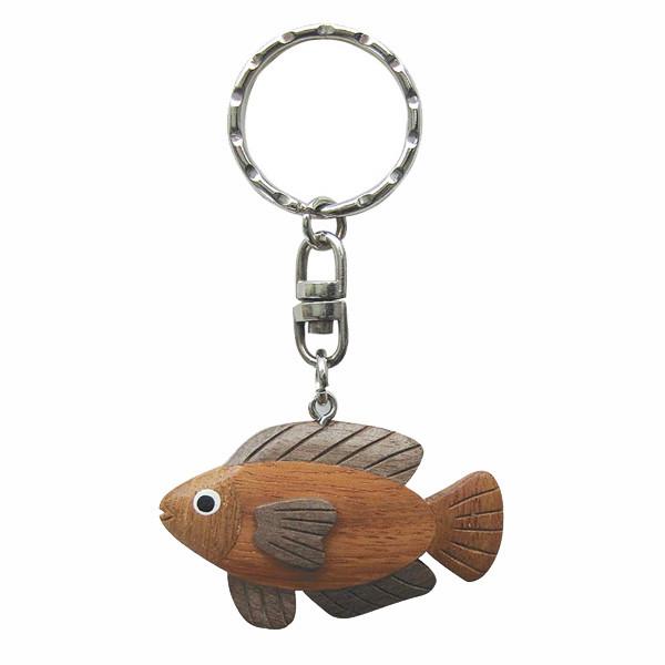 Schlüsselanhänger - Goldfisch, Holz