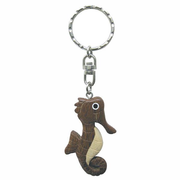 Schlüsselanhänger - Seepferdchen, Holz