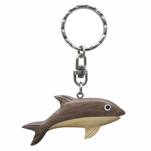 Schlüsselanhänger - Fisch, Holz
