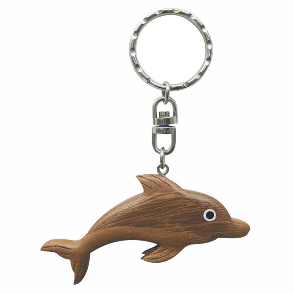 Schlüsselanhänger Geschenk - Delfin aus Holz