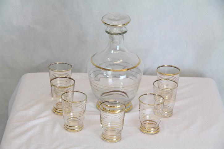 8er Set Karaffe/Gläser