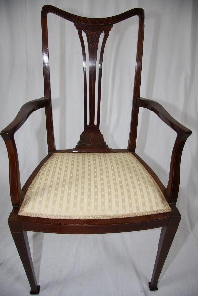 Stuhl Küchenstuhl Antiker Esszimmerstuhl aus Holz