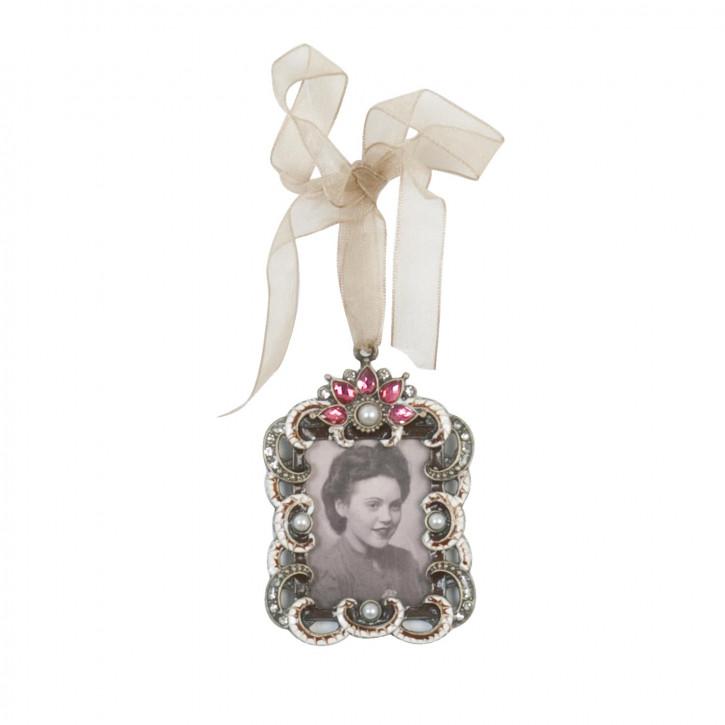 Bilderrahmen mit Perlen und Aufhänger 7*5cm