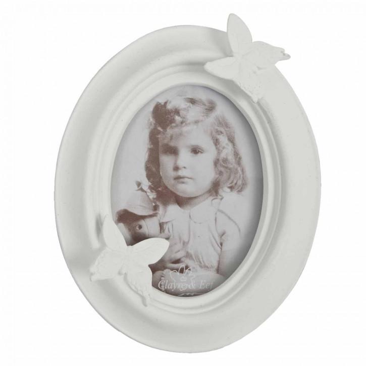 Bilderrahmen oval weiß 7*9cm