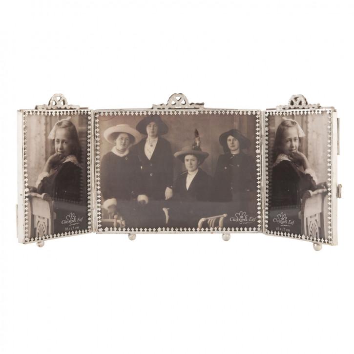Fotorahmen Klapprahmen Silberfarben ca. 10 x 15 (2x) / 15 x 20 (1x) cm