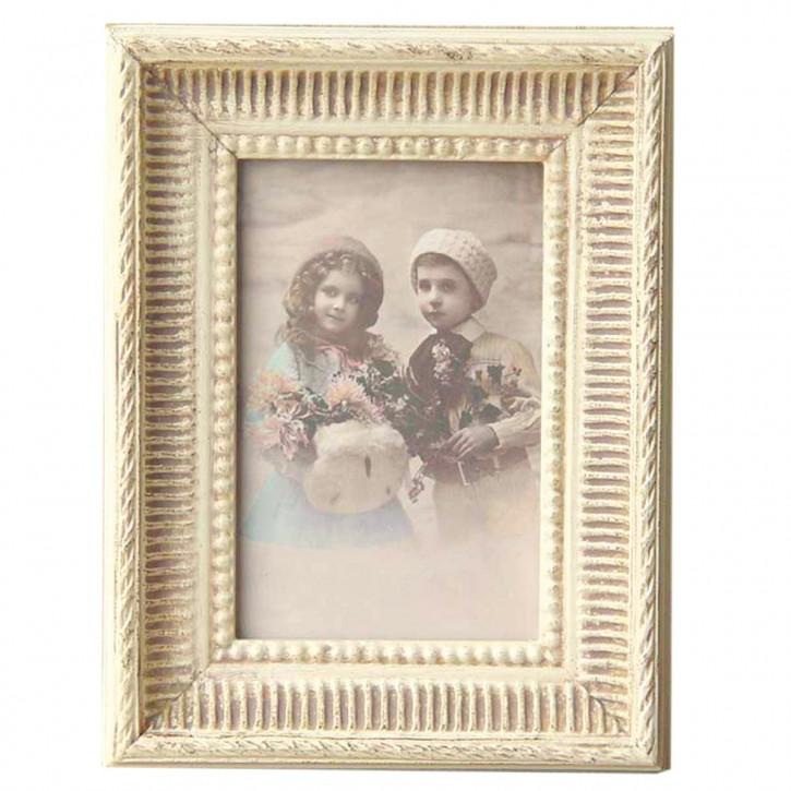 Fotorahmen Weiß Ornamente 10*15 cm