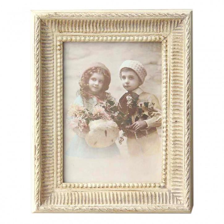 Fotorahmen Weiß Ornamente 13*18 cm