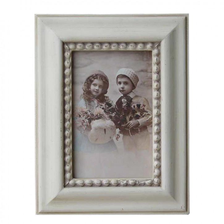 Fotorahmen Weiß Mit Ornament 10*15 cm