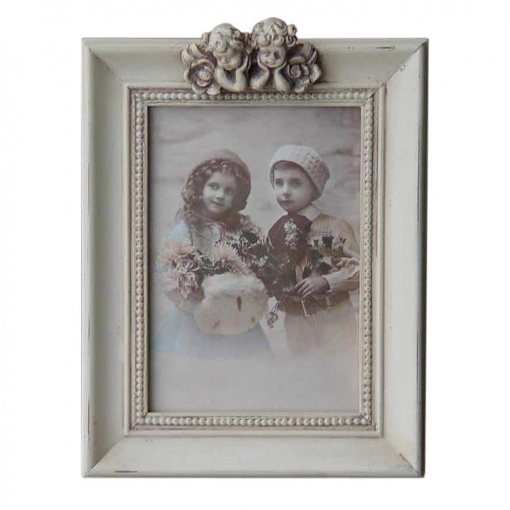 Fotorahmen Weiß mit Engeln 13*18 cm