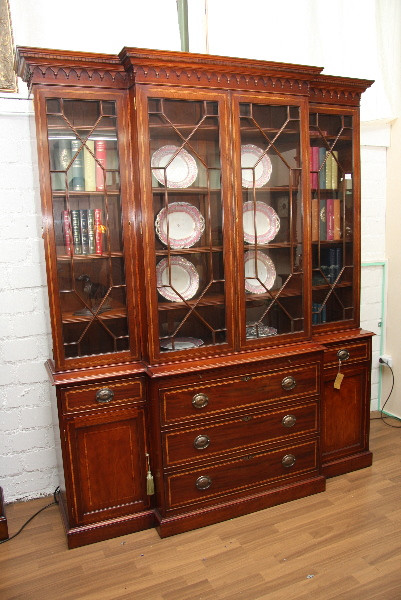 Breakfront Bookcase Edwardian