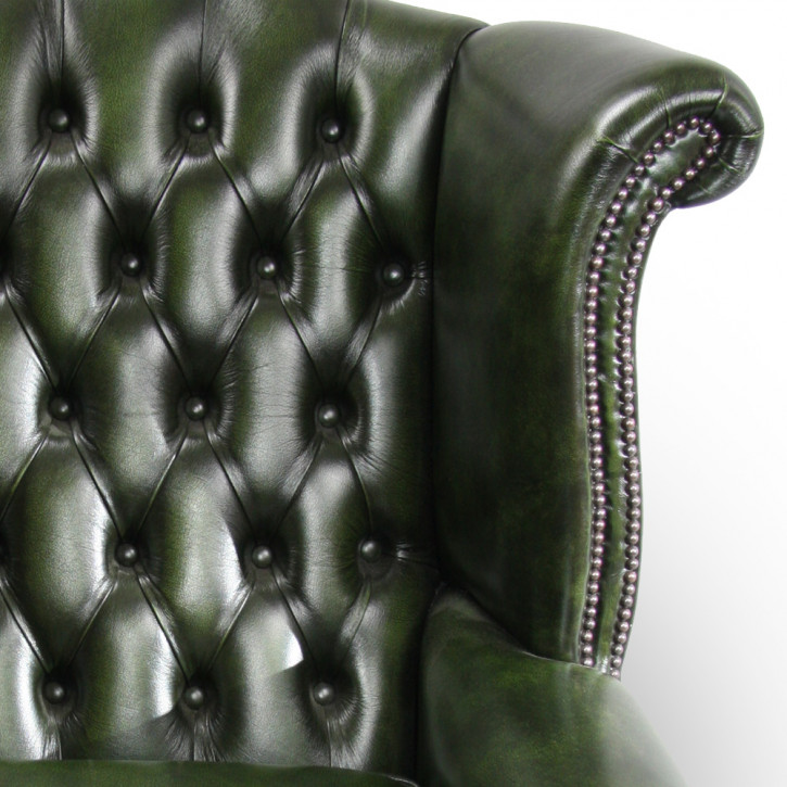 """Wing Chair"" Chesterfield Ohrensessel"