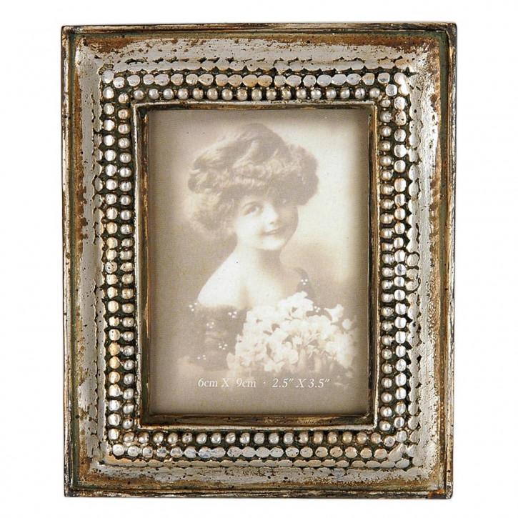 Fotorahmen  Silber  Jugendstil  6.5*9 cm