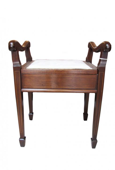 Schöner antiker Klavierstuhl Piano Stool Mahagoni Victorian Original