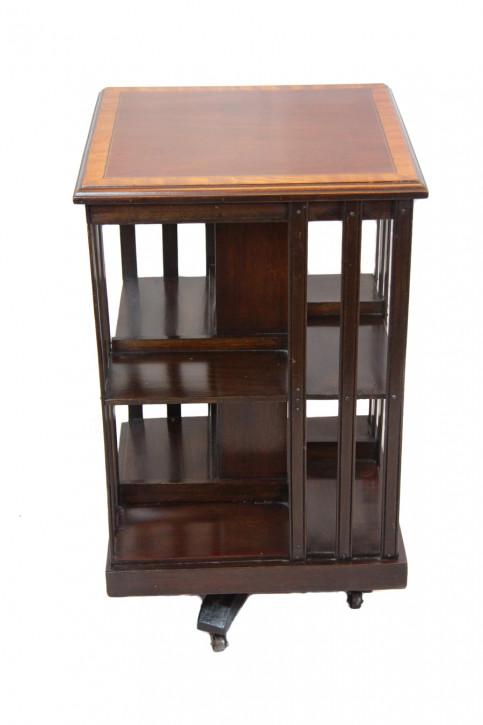 Antikes Revolwing Bücherregal Bookcase