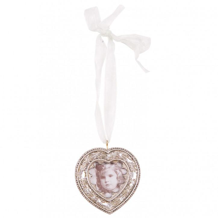 Bilderrahmen Herzform Silber 4*4 cm