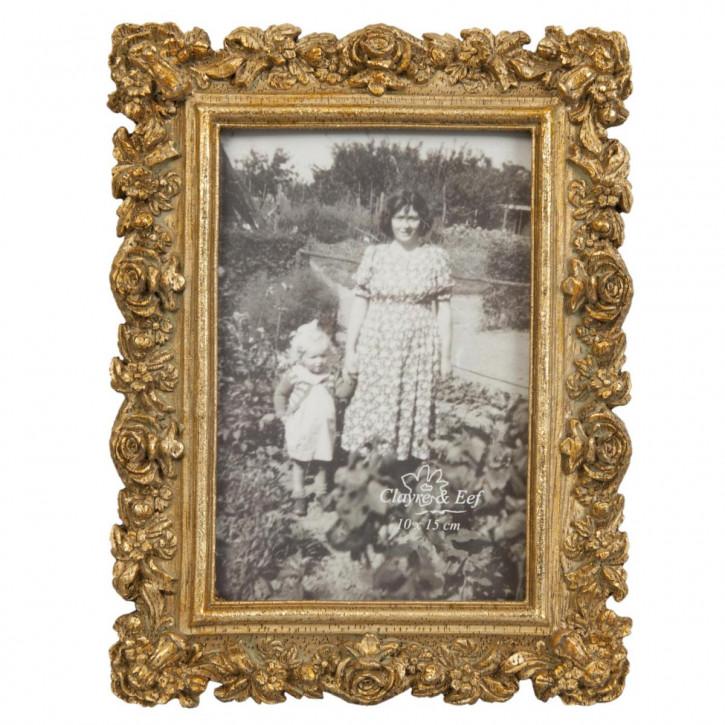 Bilderrahmen Fotorahmen goldfarbig ca. 10 x 15 cm