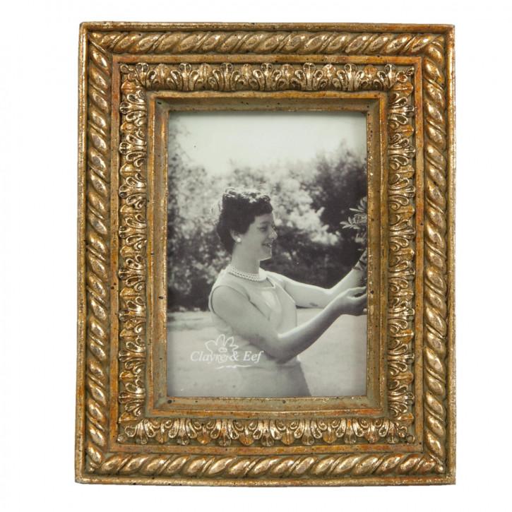 Bilderrahmen Fotorahmen goldfarbig ca. 6 x 9 cm