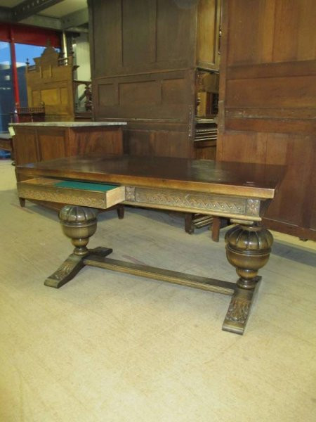 Antiker Tisch Schreibtisch 2 Schubladen