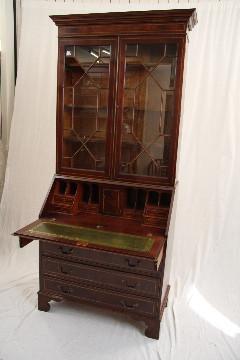 Bureau Bookcase Mahagoni auch in Eibe