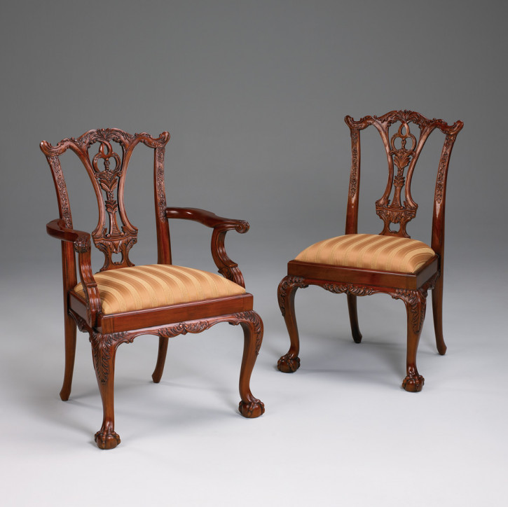 Chair, Carver, Chippendale