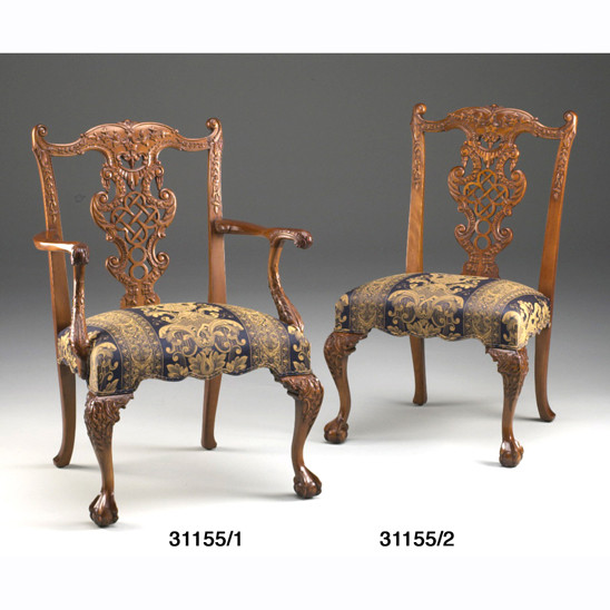 Chair, Carver, Chinese Chippendale