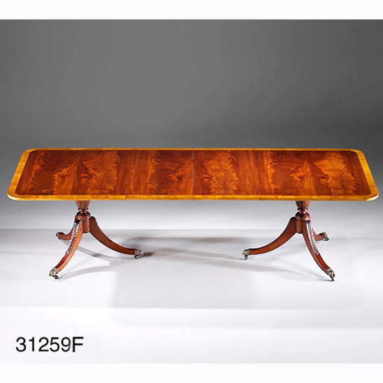 Dining Table, Banded, Rectangular