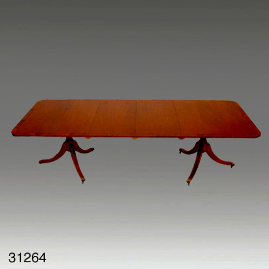 Dining Table, Dining, Rect., w/ Flamed Cross Banding
