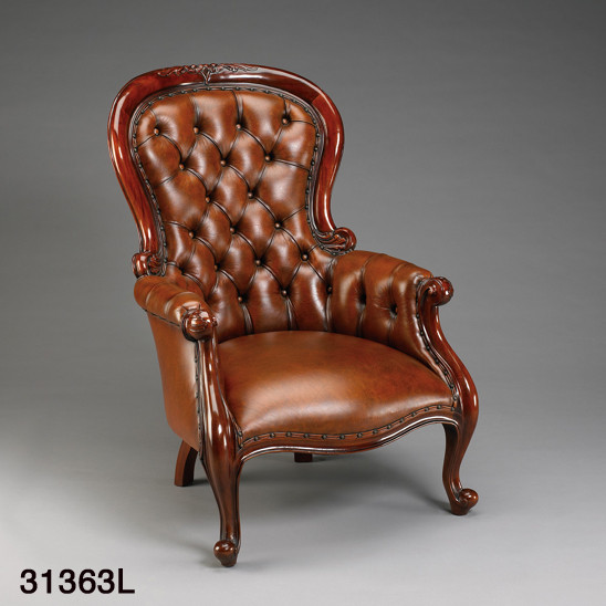 Chair Grandfather with Leather