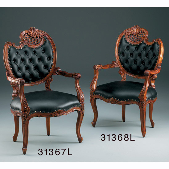 Fireside Chair, French, Right, Leather