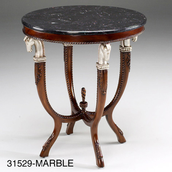"""Trojan Horse Table With Black Marble Top"" - kleiner Tisch"