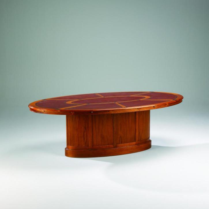 Small Boardroom Table Leather Topfür 6 Personen